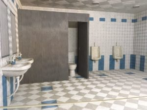 """Mumbai-based Dia Mehta Bhupal's """"Bathroom Set"""" (2016) brings into sharp relief the national obsession with toilets, this made entirely of pages of popular magazines sans the all too familiar smells."""