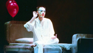 Production photo from Completely With/Out Character (1999) by The Necessary Stage featuring Paddy Chew. Image: The Necessary Stage