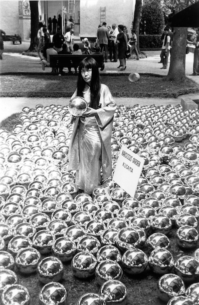 Figure 11. Narcissus Garden (1966), photograph documentation of 1966 installation at Venice Biennale [©YAYOI KUSAMA]