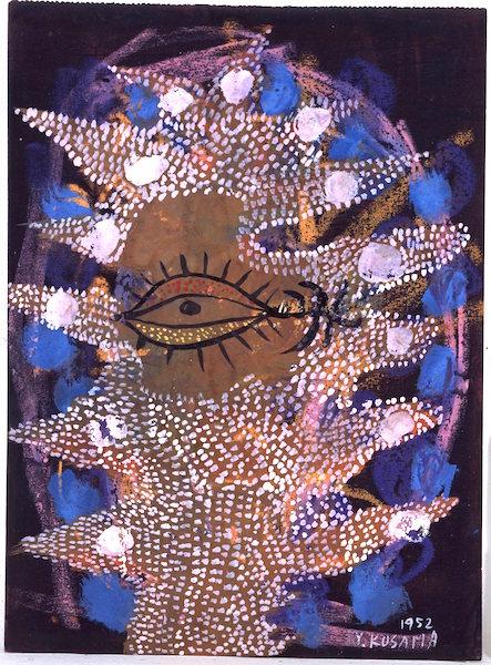 Figure 5. Yayoi Kusama, Self Portrait (1952), gouache, pastel and crayon on paper, no dimensions [©YAYOI KUSAMA]