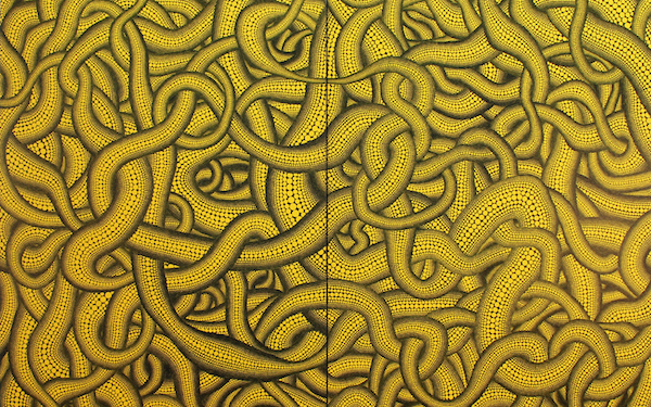 Figure 7. Yayoi Kusama, Sex Obsession (1992), acrylic on canvas, 194 x 260 cm. Kim and Lito Camacho collection.