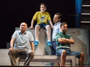 Richard (Lim Kay Siu), Kenneth (Koh Boon Pin), Jayden (Dylan Jenkins) and Liam (Emil Marwa) Image: Crispian Chan.