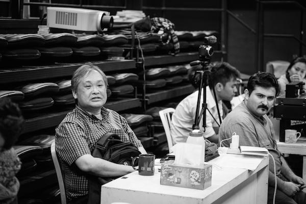 "Work in Process documentation of ""Gitanjali"" (2014). Left: Alvin Tan. Right: Felipe Cervera. Photo: Tan Ngiap Heng"
