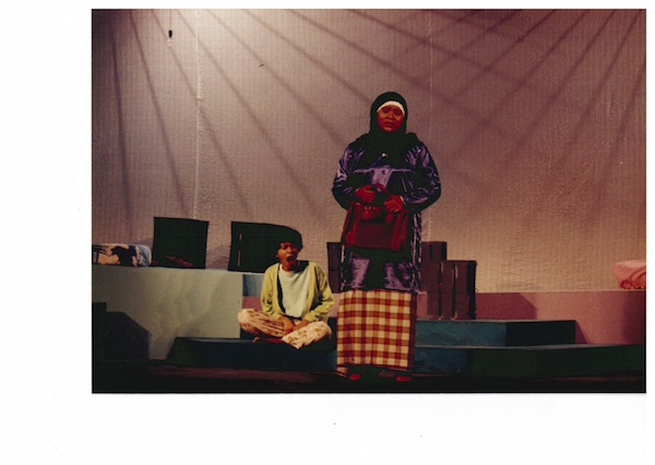 Sakinah Dollah as Saloma (left) and Mak, 1993. Photo: The Necessary Stage.