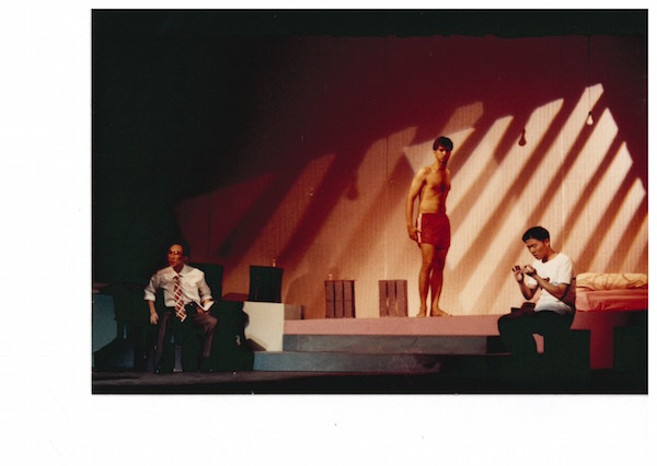 Abdul Latiff Abdullah as Vinod (centre), 1993. Photo: The Necessary Stage