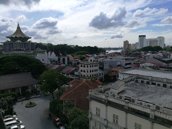 A view from the Waterfront Hotel, Kuching
