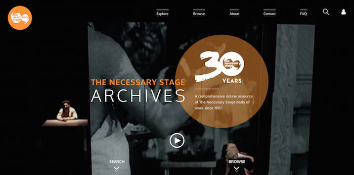 tnsarchives.com is slated to be launched this year in 2017. Image credit: The Necessary Stage.