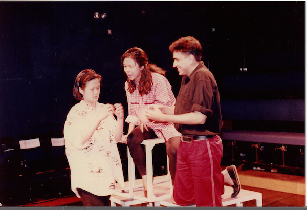 Still Building (1992) was co-directed by Josephine Peter and Alvin Tan. Written by Haresh Sharma, Sharma also performed as part of the cast alongside Karen Tan and Jean Ng. Image credit: The Necessary Stage