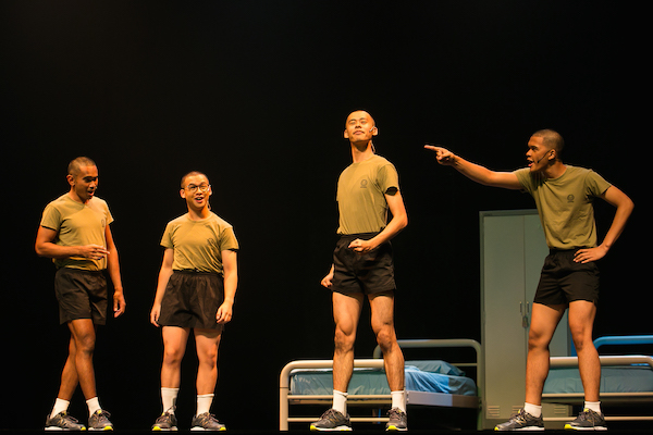 New recruits. Photo: Alfred Phang, Army Daze 2