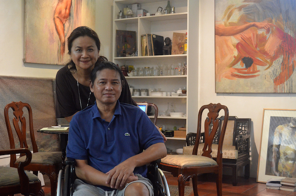 Nolet Soliven, with his wife, Tosh in their home at Marikina City, Metro Manila