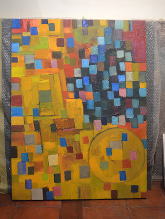 Pixels series, Nolet's vibrant abstract style during his recovery from his stroke