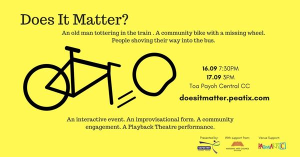 "Tapestry Playback Theatre's ""Does It Matter?"""