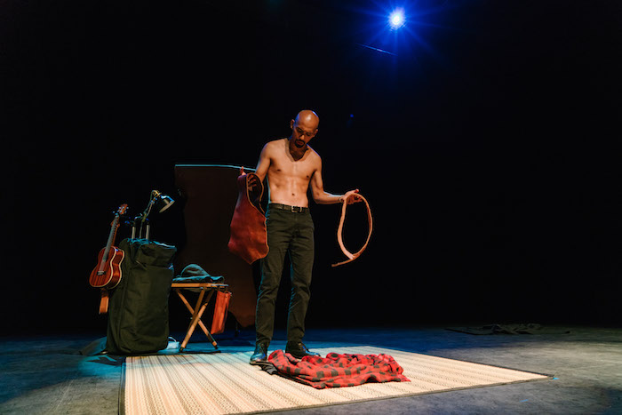 Performer Erwin Shah Ismail in his solo show 'Kulit On The Go'.