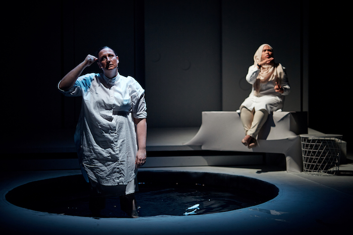 "Edith Podesta and Amirah Osman in ""Leda and the Rage"""