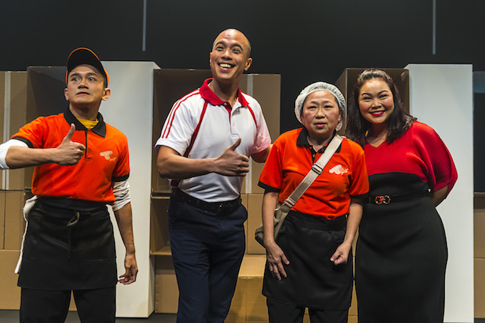 From left: Yazid Jalil, Brendon Fernandez, Goh Guat Kian and Siti Khalijah Zainal in a scene from Underclass.