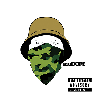 Album art for Akeem Jahat's mixtape, SeluDOPE