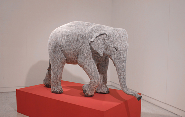 Bharti Kher's I've Seen an Elephant Fly in the IMPART Collectors' Show 2020.