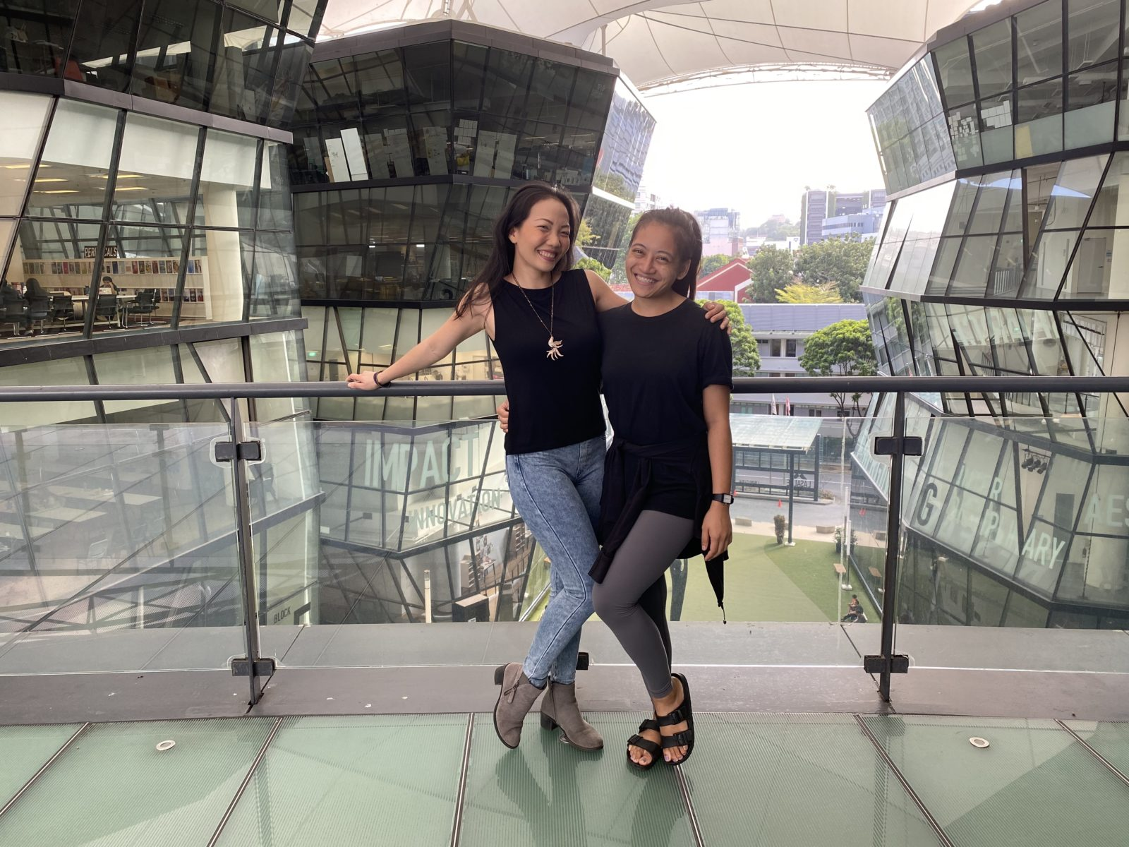 Seong Hui Xuan and Izzathy Halil, who both went through the LASALLE Musical Theatre degree.